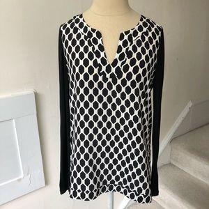 Diane von Furstenberg Jaden Silk and Jersey Top